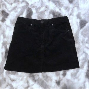Forever 21 Corduroy Mini Skirt with Back Pockets